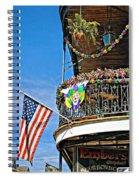 Mardi Gras Balcony Spiral Notebook