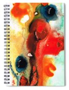 Mardi Gras - Colorful Abstract Art By Sharon Cummings Spiral Notebook