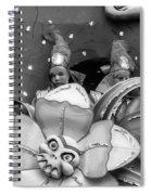 Mardi Gras Float Monochrome Spiral Notebook
