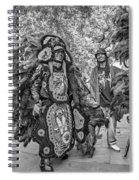Mardi Gras Indian Monochrome Spiral Notebook