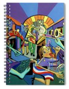 Mardi Gras Lets Get The Party Started Spiral Notebook