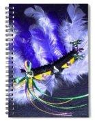 Mardi Gras On Purple Spiral Notebook