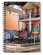 Mardi Gras Party On St Charles Ave New Orleans Spiral Notebook