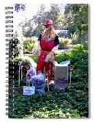Mardi Gras Scarecrow At Bellingrath Gardens Spiral Notebook