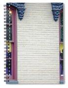 Mardi Gras Windows Spiral Notebook