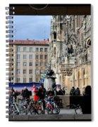 Mareinplatz And Glockenspiel Munich Germany Spiral Notebook