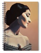 Maria Callas Painting Spiral Notebook