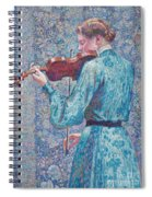 Marie Anne Weber Playing The Violin  Spiral Notebook