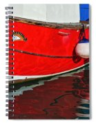 Marie F At The Harbour Spiral Notebook