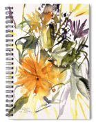 Marigold And Other Flowers Spiral Notebook