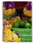 Marigolds And Limes Spiral Notebook