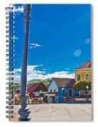 Marija Bistrica Square Colorful Panorama Spiral Notebook