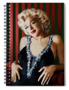 Marilyn 126 D Stripes Spiral Notebook