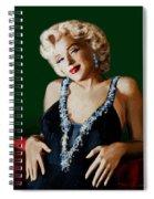 Marilyn 126 Green Spiral Notebook