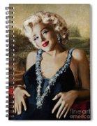 Marilyn 126 Mona Lisa Spiral Notebook