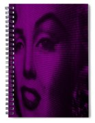 Marilyn And Mona Purple Spiral Notebook