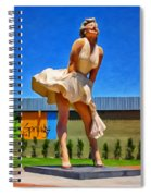 Marilyn In Palm Springs Spiral Notebook