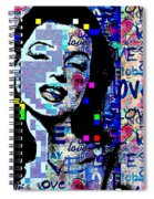 Marilyn Monroe 3 Loved.lost.loved Again Spiral Notebook