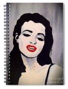 Marilyn Monroe Aka Norma Jean Artistic Impression Spiral Notebook
