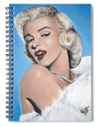 Marilyn Monroe - Blue Backround Spiral Notebook