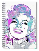 Marilyn Monroe I Want To Be Loved By You Spiral Notebook