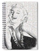 Marilyn Monroe In Mosaic Spiral Notebook