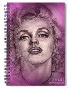 Marilyn Monroe In Pink Spiral Notebook