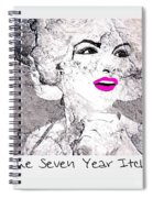 Marilyn Monroe Movie Poster Spiral Notebook