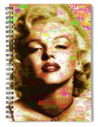 Marilyn Monroe Name Characters Spiral Notebook