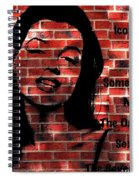 Marilyn Monroe On The Wall Spiral Notebook