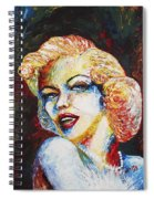 Marilyn Monroe Original Palette Knife Painting Spiral Notebook