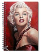Marilyn Monroe - Red Spiral Notebook