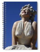 Marilyn Monroe Statue 2 Spiral Notebook