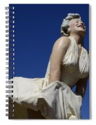 Marilyn Monroe Statue 3 Spiral Notebook