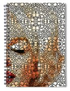 Marilyn Monroe - Stone Rock'd Art Painting Spiral Notebook