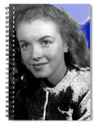 Marilyn Monroe Then Norma Jeane Dougherty Photo By H. Maier Studios Los Angeles Ca C.1943-2014 Spiral Notebook