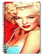 Marilyn Monroe Tribute In Red Spiral Notebook