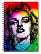 Marilyn Monroe Under Spotlights Spiral Notebook