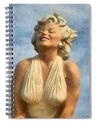 Marilyn Monroe Watercolor Spiral Notebook