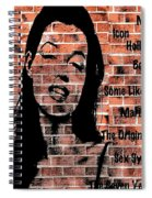 Marilyn On Brick Spiral Notebook