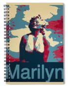 Marilyn Poster Spiral Notebook