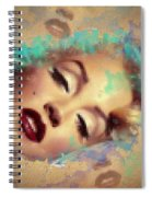 Marilyn Red Lips Digital Painting Spiral Notebook