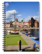 Marina And Old Town Of Gdansk Skyline Spiral Notebook