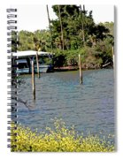 Marina At Miners Slough Spiral Notebook