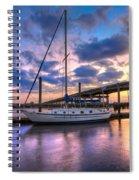 Marina At Sunset Spiral Notebook