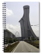 Marina Bay Sands And Singapore Flyer As Seen From A Distance Spiral Notebook