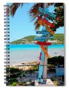 Marina Cay Sign Spiral Notebook