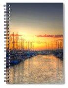 Marina Summer Sunset Spiral Notebook