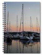 Marina Sunset Afterglow Spiral Notebook