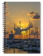 Marina Sunset Spiral Notebook